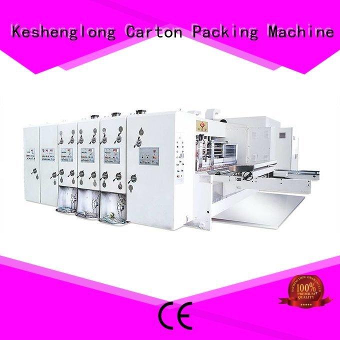 slotting printing six color KeShengLong flexo printing and die cutting machine