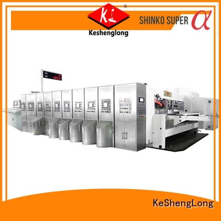 KeShengLong Brand ejecting die folding HD flexo printer slotter slotting