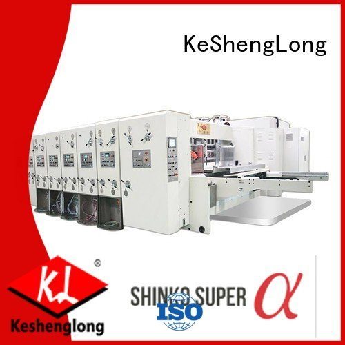 KeShengLong Brand computerized slotting flexo printing and die cutting machine cutting six color