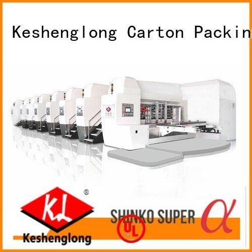 automatic gluing HD flexo printer slotter K8-Type KeShengLong