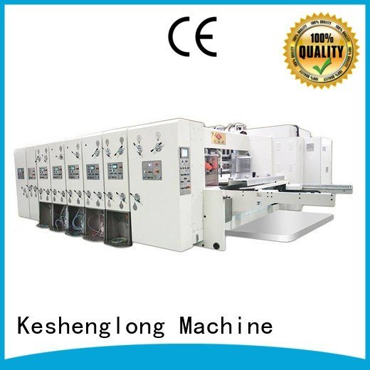 flexo printing and die cutting machine printing automatic printing slotting die cutting machine six color KeShengLong