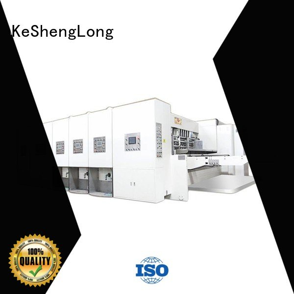 computerized printing flexo three color KeShengLong flexo printing and die cutting machine