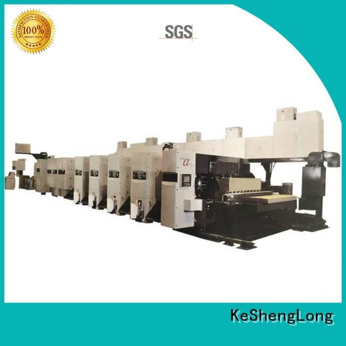 KeShengLong curled corrugated 3 color flexo printer slotter slotter