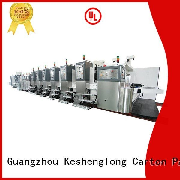 ejecting top structure automatic KeShengLong HD flexo printer slotter