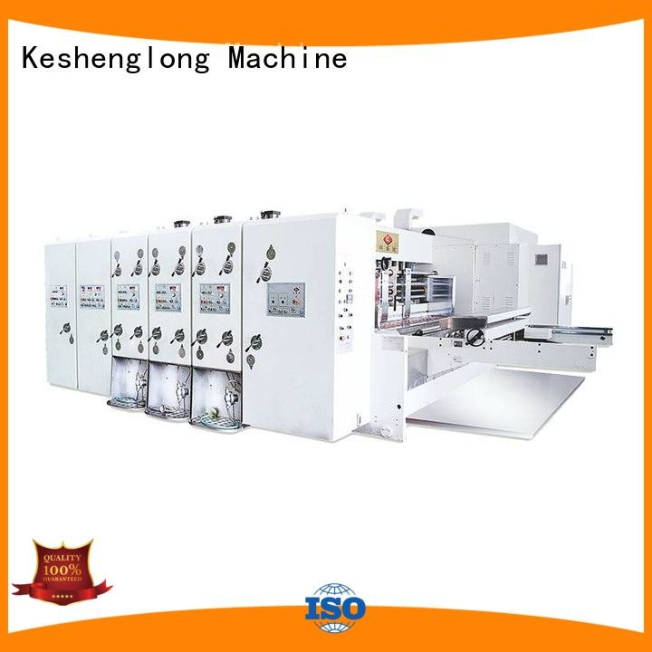 KeShengLong die six color automatic printing slotting die cutting machine automatic cutting