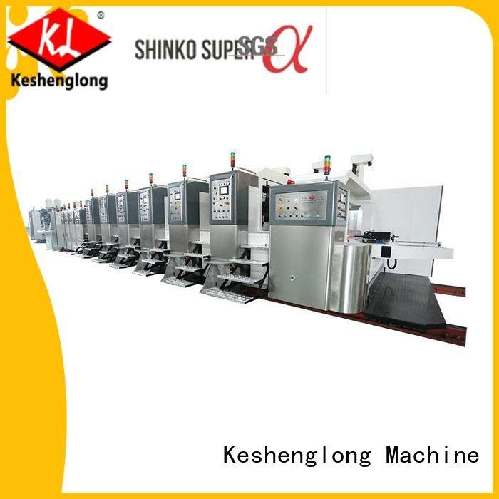 KeShengLong HD flexo printer slotter automatic gluing movable fixed