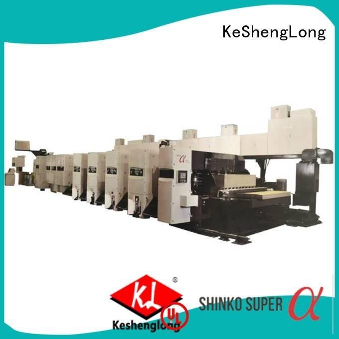 KeShengLong Brand 4 color printer gluer flexo printer slotter machine diecutter