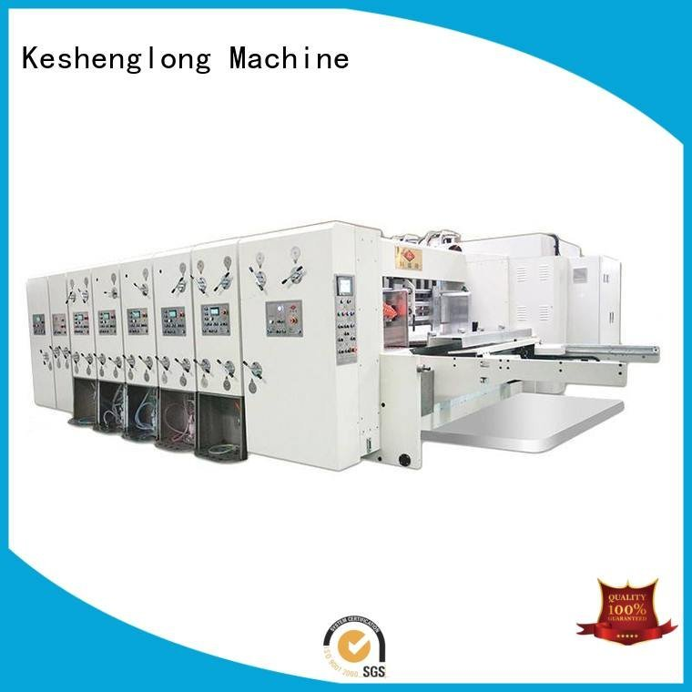 KeShengLong flexo printing and die cutting machine flexo three color cutting
