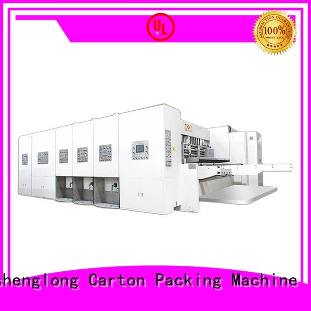 three color automatic printing slotting die cutting machine printing computerized KeShengLong