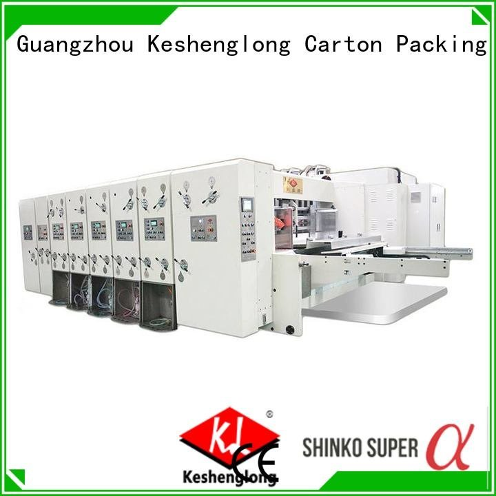 flexo computerized KeShengLong automatic printing slotting die cutting machine