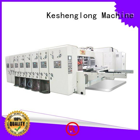 KeShengLong Brand four color machine three color flexo printing and die cutting machine