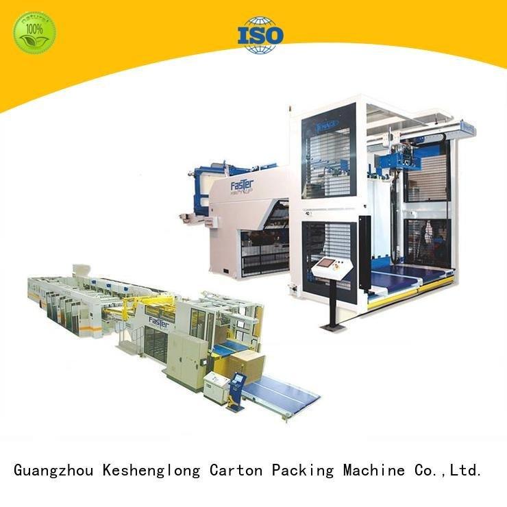 semiauto cardboard box printing machine KeShengLong cardboard box printing machine