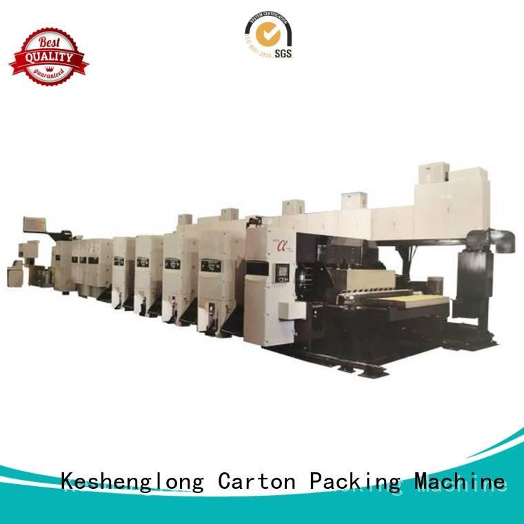 KeShengLong 3 color flexo printer slotter machine printer 4 color