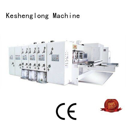 flexo printing and die cutting machine computerized k4 OEM automatic printing slotting die cutting machine KeShengLong