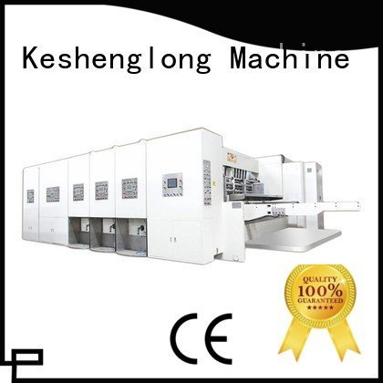 flexo printing and die cutting machine cutting four color computerized die KeShengLong