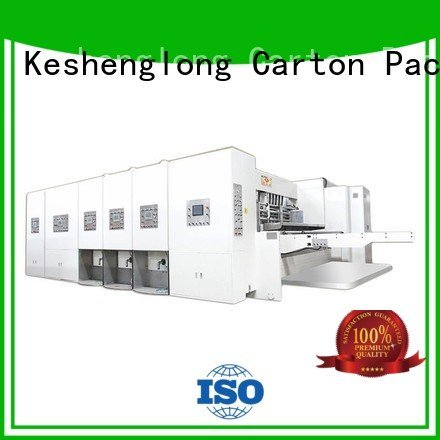 Quality flexo printing and die cutting machine KeShengLong Brand cutting automatic printing slotting die cutting machine