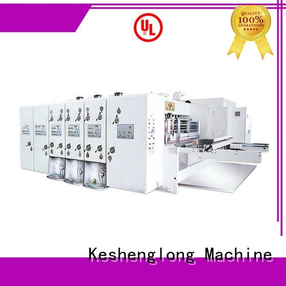 Custom four color automatic printing slotting die cutting machine cutting flexo printing and die cutting machine
