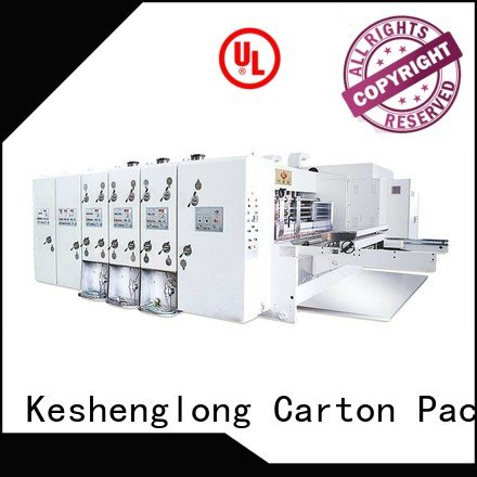 Wholesale automatic four color automatic printing slotting die cutting machine KeShengLong Brand