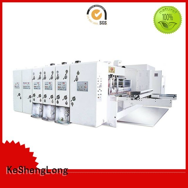 KeShengLong Brand four color flexo printing and die cutting machine automatic jumbo