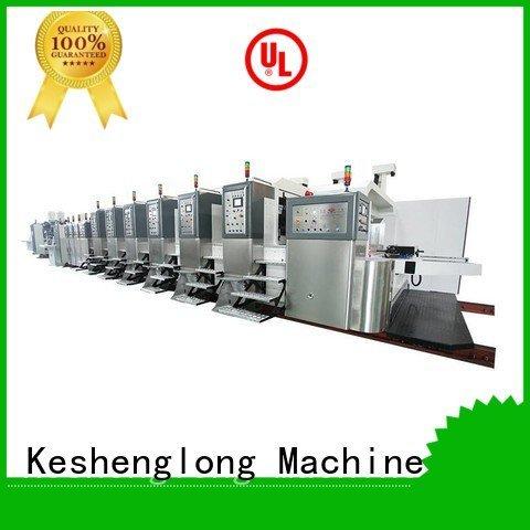 KeShengLong Brand gluing flat ejecting HD flexo printer slotter flexo