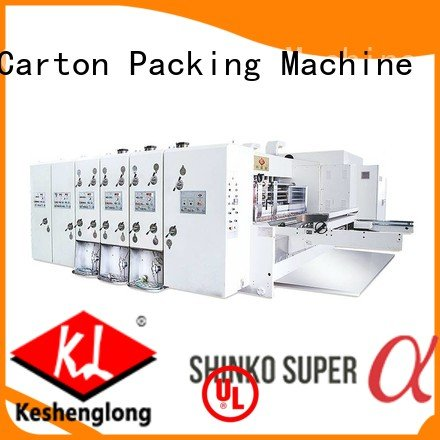 KeShengLong Brand three color jumbo printing automatic printing slotting die cutting machine cutting