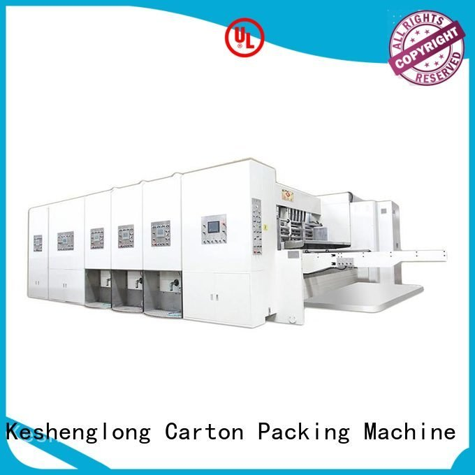 Wholesale printing three color automatic printing slotting die cutting machine KeShengLong Brand