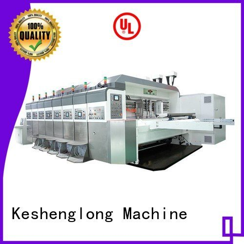 KeShengLong inline HD flexo printer slotter goutering flat
