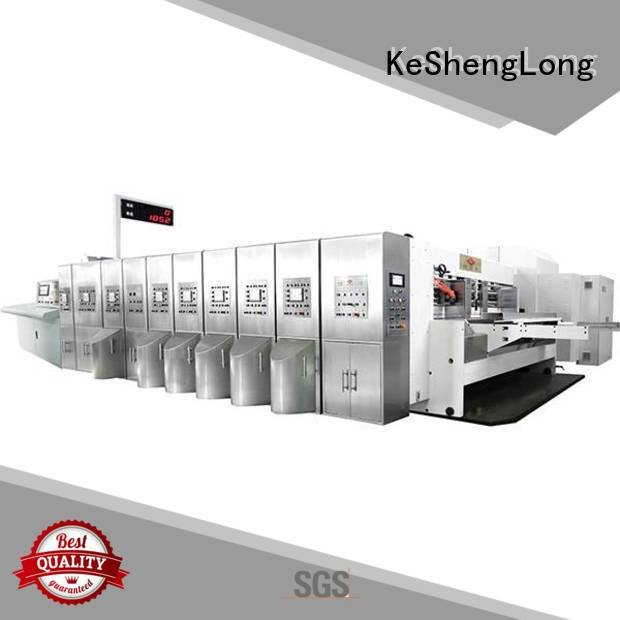 KeShengLong HD flexo printer slotter movable inline ejecting folding