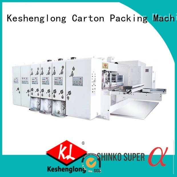 automatic jumbo four color flexo KeShengLong flexo printing and die cutting machine