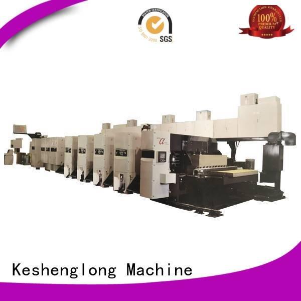 KeShengLong Brand gluer In-line flexo flexo printer slotter machine curled