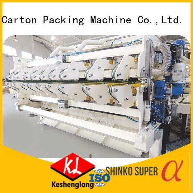 KeShengLong Brand six color Top cardboard box printing machine three color Auxiliary