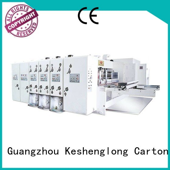 six color automatic printing slotting die cutting machine automatic slotting KeShengLong