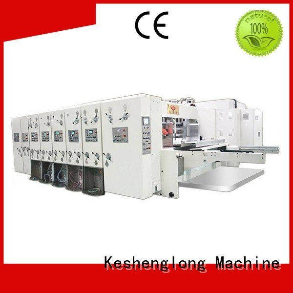 flexo printing and die cutting machine flexo KeShengLong Brand automatic printing slotting die cutting machine