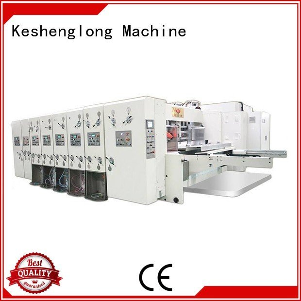 automatic automatic printing slotting die cutting machine KeShengLong flexo printing and die cutting machine
