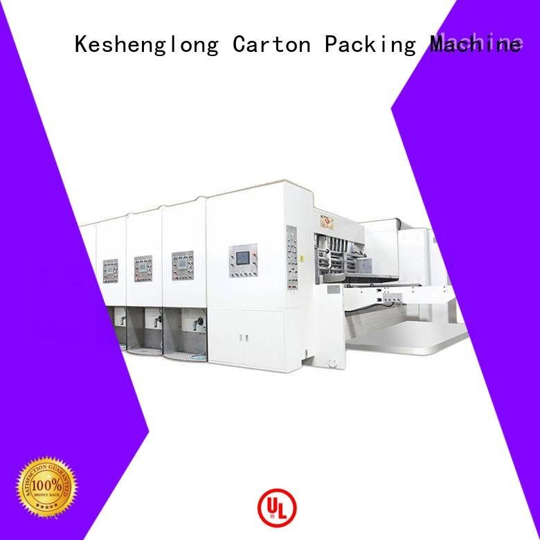 flexo printing and die cutting machine cutting automatic printing slotting die cutting machine KeShengLong Brand