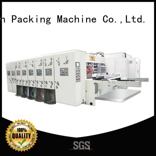 flexo printing and die cutting machine six color automatic printing slotting die cutting machine flexo KeShengLong