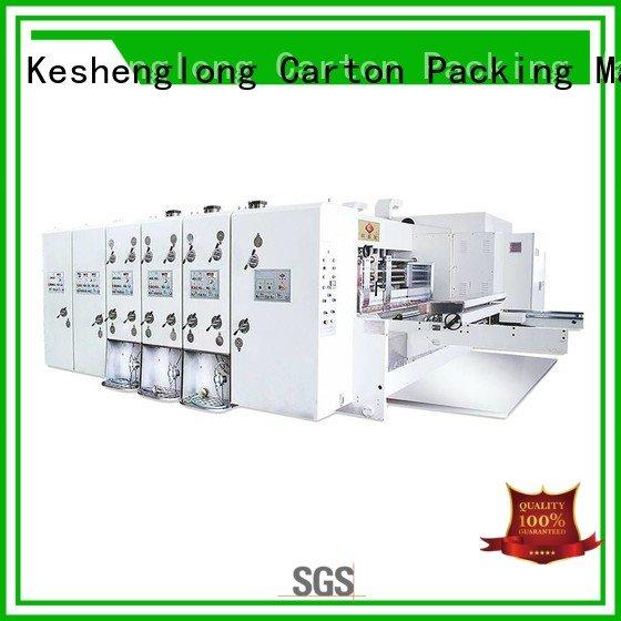 KeShengLong automatic printing slotting die cutting machine printing three color six color jumbo