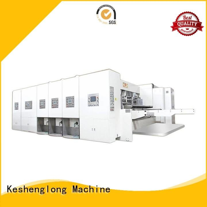 Wholesale automatic three color automatic printing slotting die cutting machine KeShengLong Brand