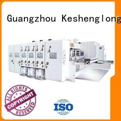 KeShengLong Brand cutting printing three color automatic printing slotting die cutting machine slotting