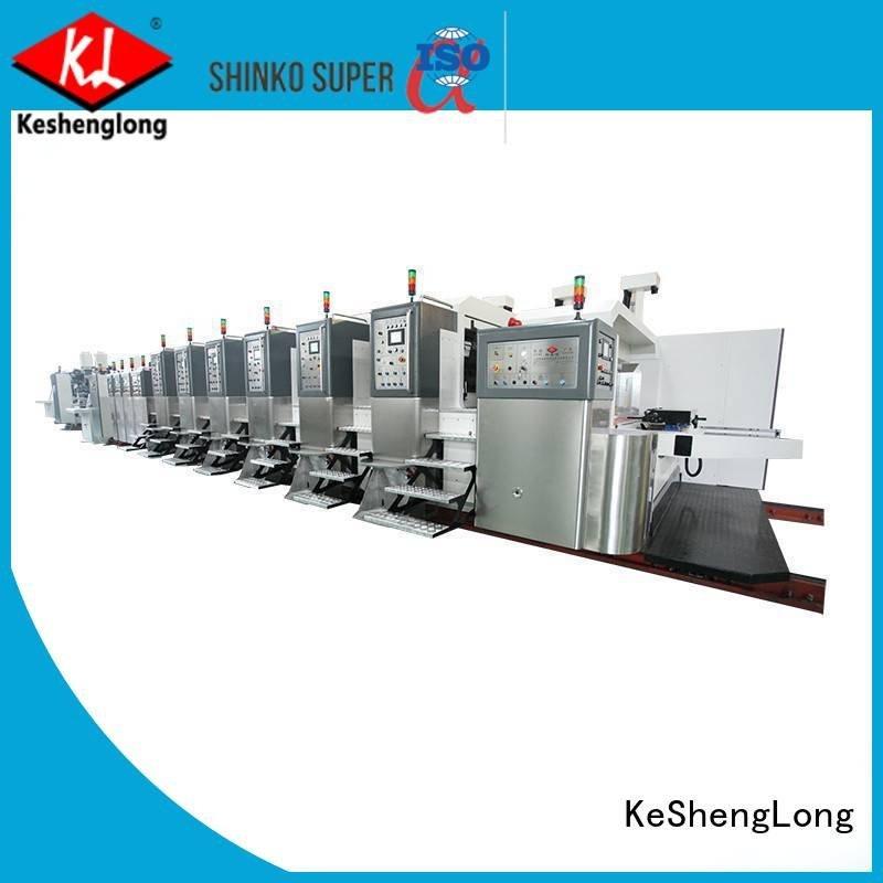 movable HD flexo printer slotter cutting fixed KeShengLong