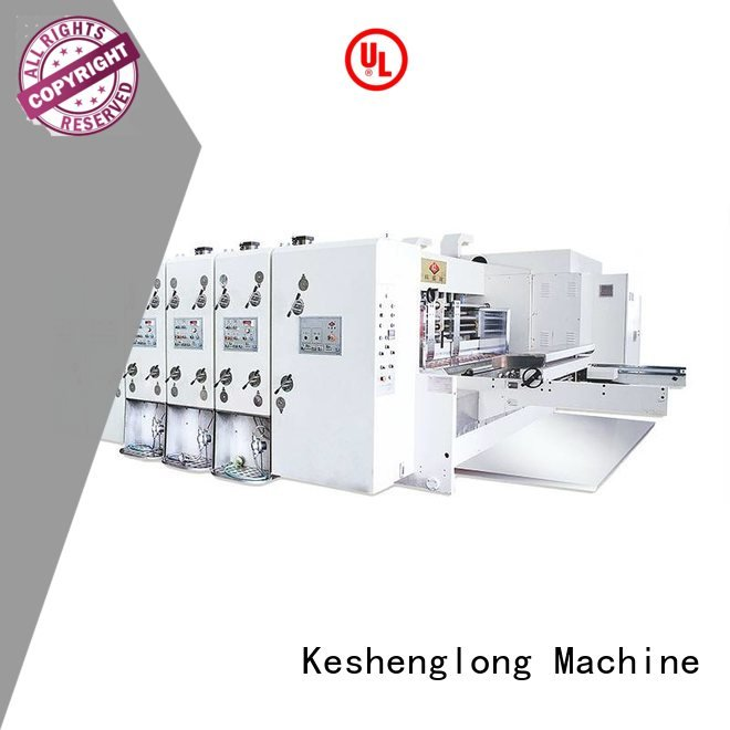 KeShengLong flexo printing and die cutting machine computerized three color die