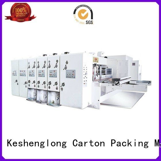 flexo printing and die cutting machine four color automatic printing slotting die cutting machine six color KeShengLong