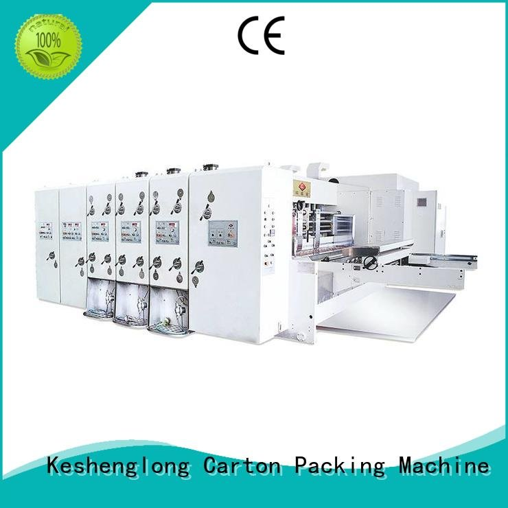 printing cutting four color slotting KeShengLong flexo printing and die cutting machine