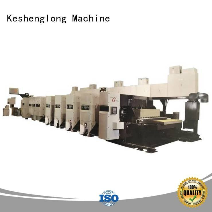 shinko 3 color In-line gluer KeShengLong flexo printer slotter machine