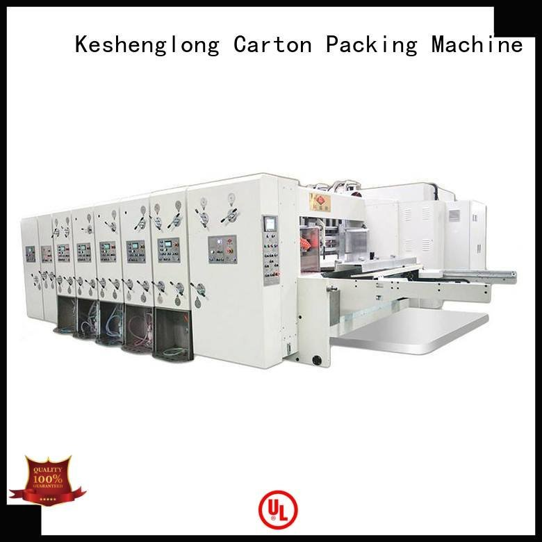 cutting automatic automatic printing slotting die cutting machine three color KeShengLong