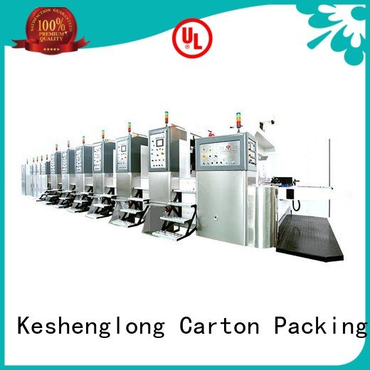 China hd flexo flat flexo HD flexo printer slotter KeShengLong Brand