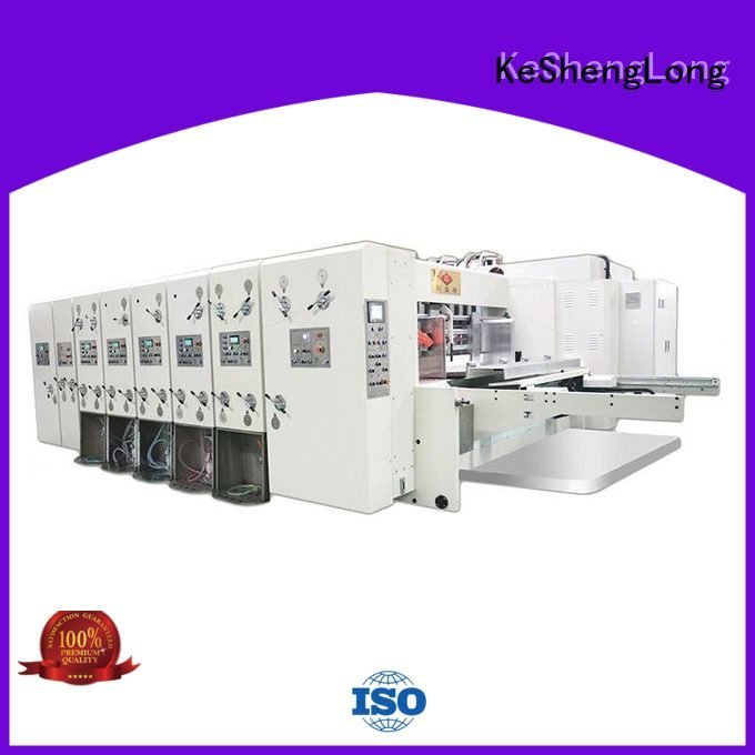 Quality flexo printing and die cutting machine KeShengLong Brand computerized automatic printing slotting die cutting machine