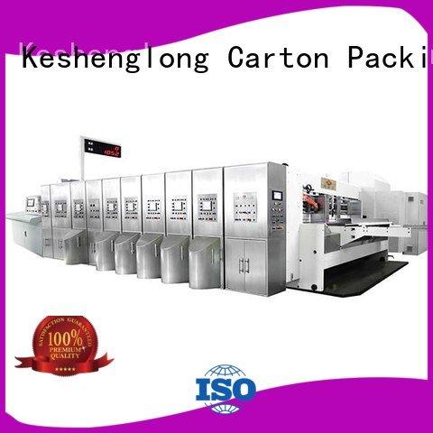 KeShengLong gluing HD flexo printer slotter inline K8-Type