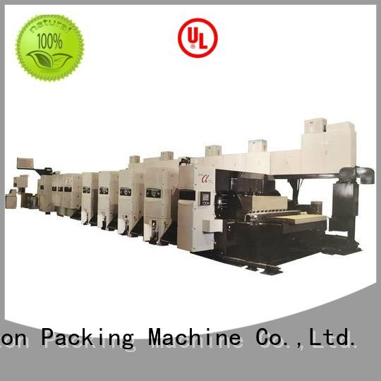 KeShengLong Brand slotter cardboard flexo printer slotter gluer 6 color