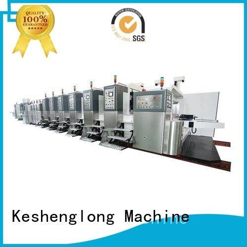 KeShengLong Brand gluing automatic slotting HD flexo printer slotter